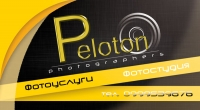 Лицевая сторона визитки фотостудии Peloton
