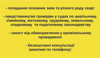 Обратная сторона визитки адвоката Борох В. Н.