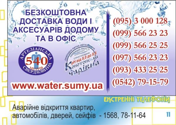 стр. 11 / Бесплатная доставка воды (1) / Экстренные телефоны