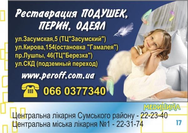 стр. 17 / Реставрация подушек, перин, одеял / Медицина