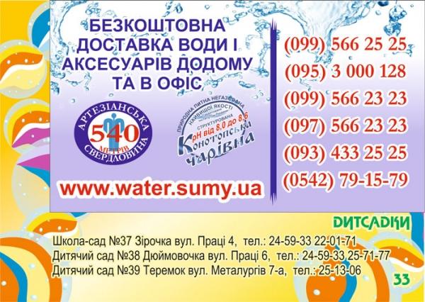 стр. 33 / Бесплатная доставка воды / Детсады